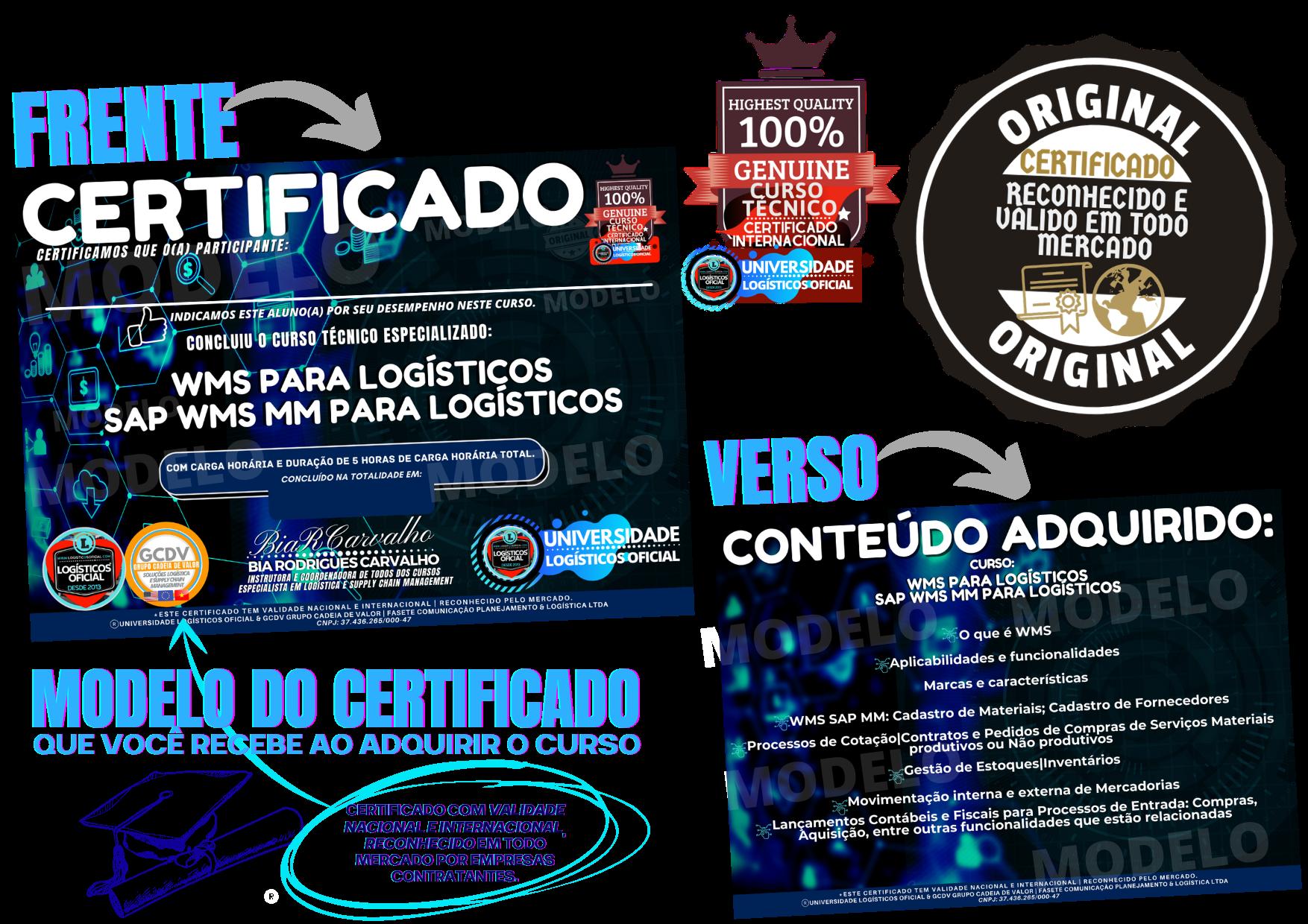 Certificado WMS/SAP